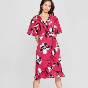 Who what wear wrap floral dress